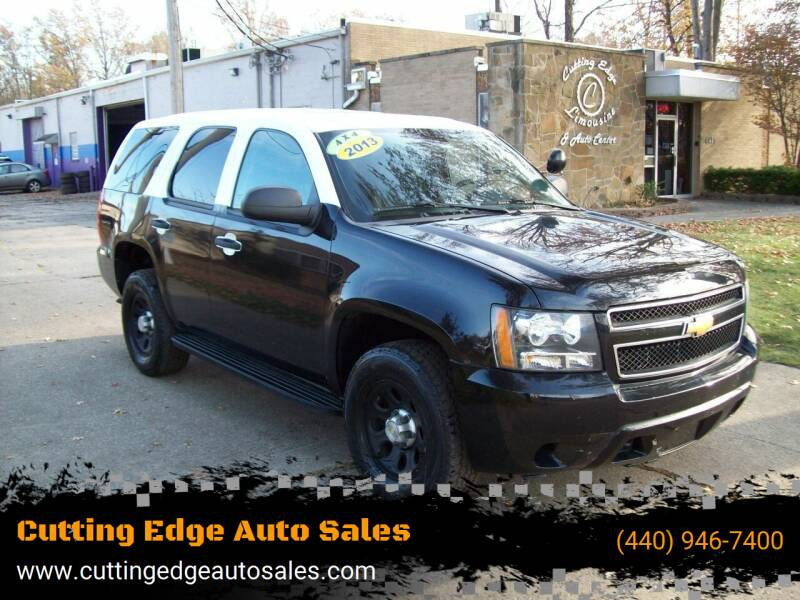2013 Chevrolet Tahoe for sale at Cutting Edge Auto Sales in Willoughby OH