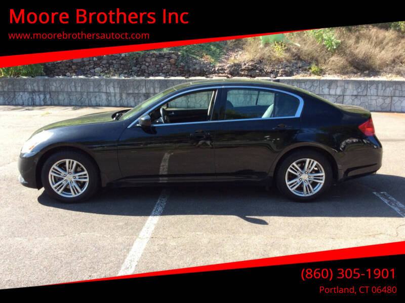 2011 Infiniti G37 Sedan for sale at Moore Brothers Inc in Portland CT