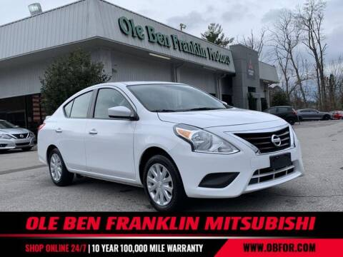 2019 Nissan Versa for sale at Ole Ben Franklin Mitsbishi in Oak Ridge TN