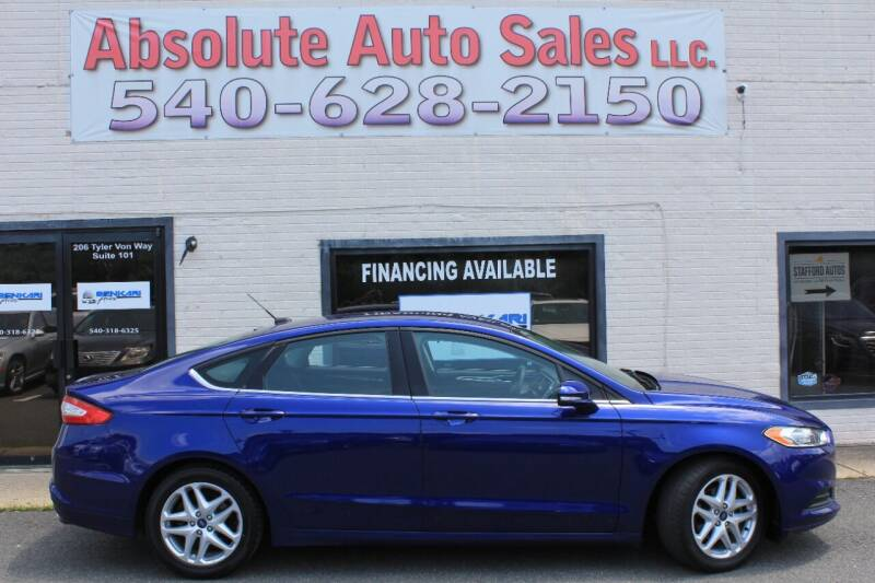 2016 Ford Fusion for sale at Absolute Auto Sales in Fredericksburg VA