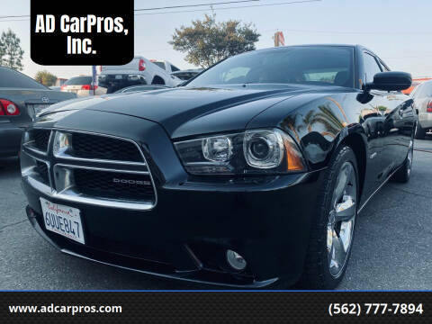 2012 Dodge Charger for sale at AD CarPros, Inc. in Whittier CA