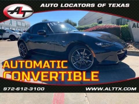 2018 Mazda MX-5 Miata RF for sale at AUTO LOCATORS OF TEXAS in Plano TX