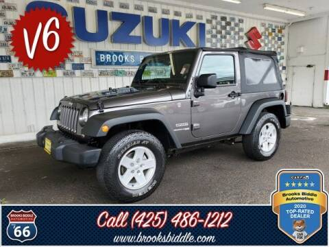 2018 Jeep Wrangler JK for sale at BROOKS BIDDLE AUTOMOTIVE in Bothell WA
