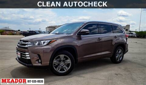 2018 Toyota Highlander for sale at Meador Dodge Chrysler Jeep RAM in Fort Worth TX