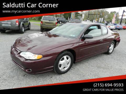 2004 Chevrolet Monte Carlo for sale at Saldutti Car Corner in Gilbertsville PA