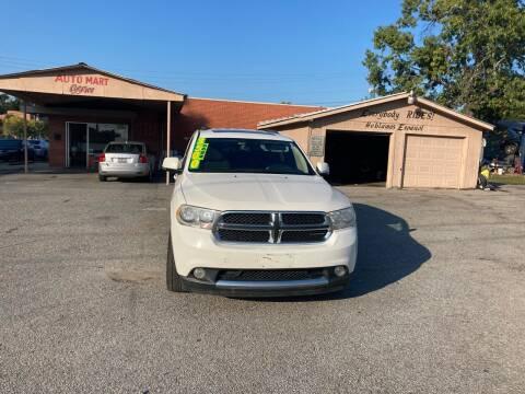 2012 Dodge Durango for sale at Auto Mart in North Charleston SC