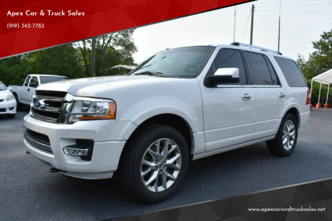 2016 Ford Expedition for sale at Apex Car & Truck Sales in Apex NC