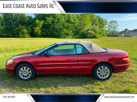 2005 Chrysler Sebring for sale at East Coast Auto Sales llc in Virginia Beach VA