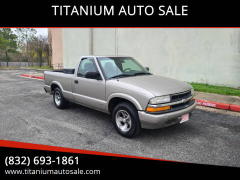 2001 Chevrolet S-10 for sale at TITANIUM AUTO SALE in Houston TX