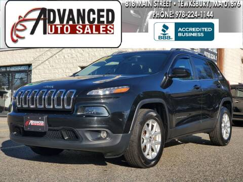 2014 Jeep Cherokee for sale at Advanced Auto Sales in Tewksbury MA