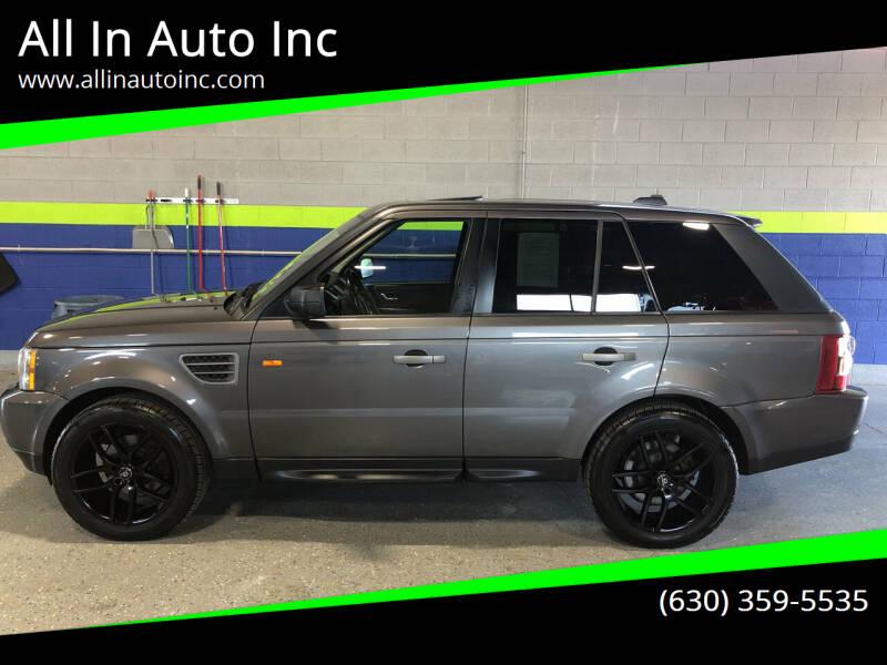 2006 Land Rover Range Rover Sport for sale at All In Auto Inc in Addison IL