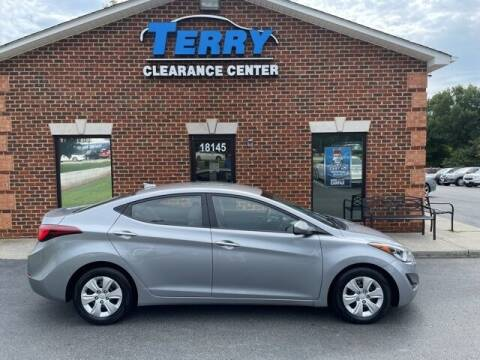 2016 Hyundai Elantra for sale at Terry Clearance Center in Lynchburg VA