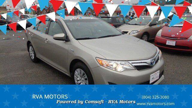 2013 Toyota Camry Hybrid for sale at RVA MOTORS in Richmond VA