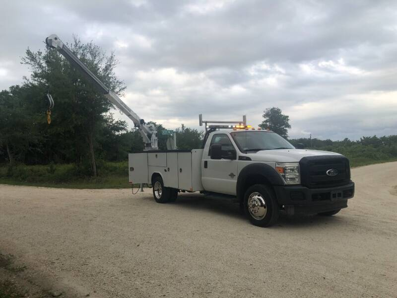2011 Ford F550 POWER STROKE UTILITY for sale at S & N AUTO LOCATORS INC in Lake Placid FL