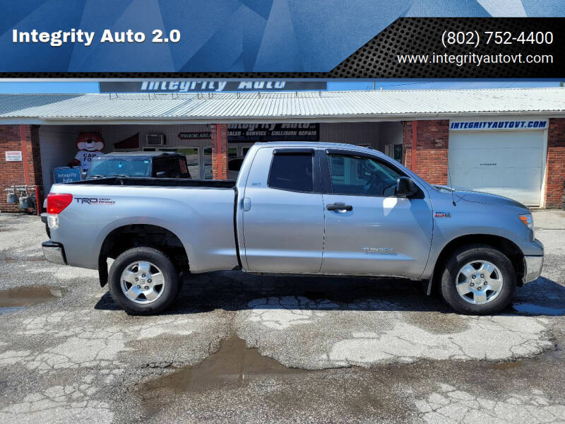 2012 Toyota Tundra for sale at Integrity Auto 2.0 in Saint Albans VT
