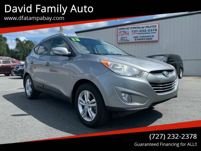 2013 Hyundai Tucson for sale at David Family Auto in New Port Richey FL