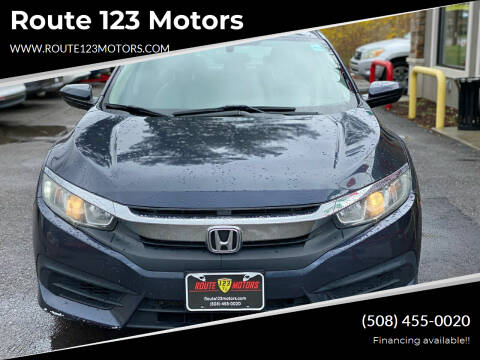 2016 Honda Civic for sale at Route 123 Motors in Norton MA