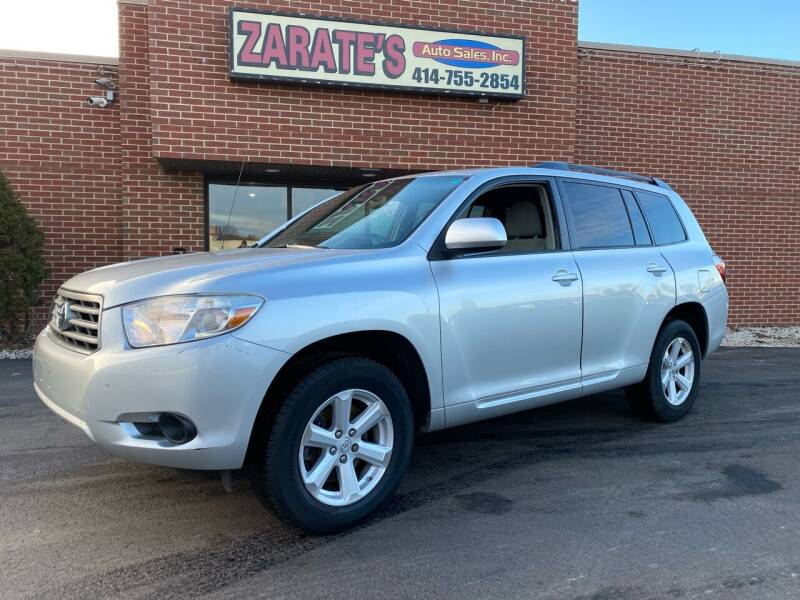 2010 Toyota Highlander for sale at Zarate's Auto Sales in Caledonia WI