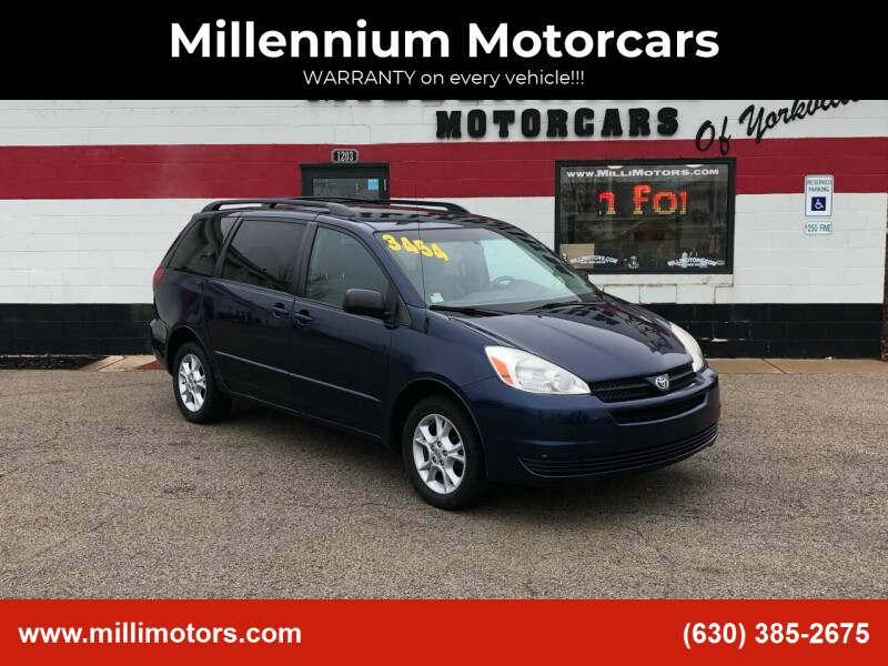 2005 Toyota Sienna for sale at Millennium Motorcars in Yorkville IL