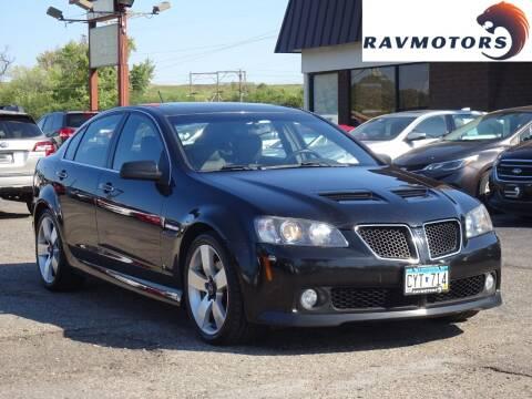 2008 Pontiac G8 for sale at RAVMOTORS in Burnsville MN