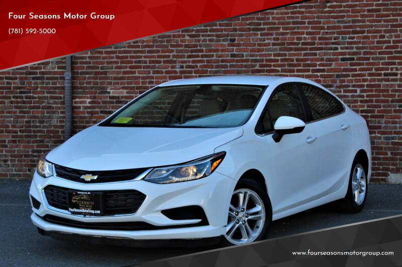 2016 Chevrolet Cruze for sale at Four Seasons Motor Group in Swampscott MA