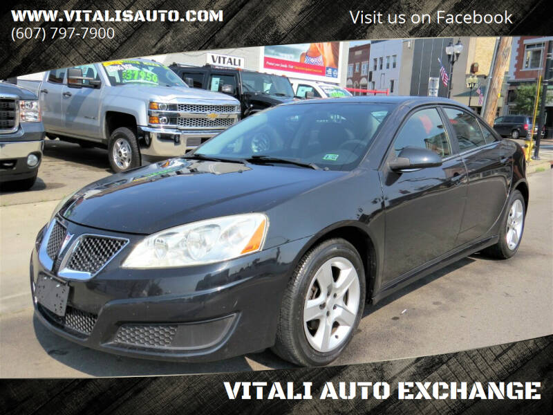 2010 Pontiac G6 for sale at VITALI AUTO EXCHANGE in Johnson City NY