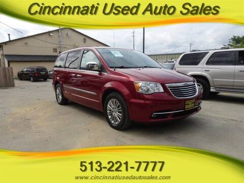 2013 Chrysler Town and Country for sale at Cincinnati Used Auto Sales in Cincinnati OH