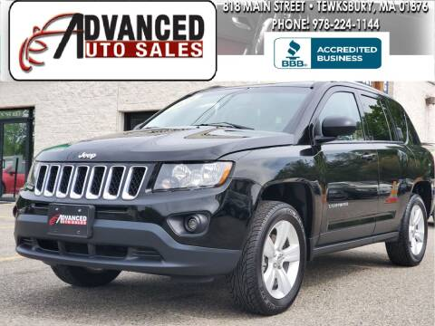 2016 Jeep Compass for sale at Advanced Auto Sales in Tewksbury MA