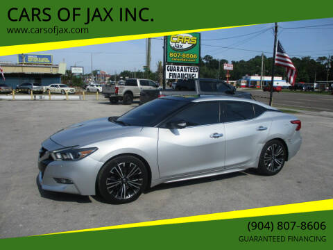 2016 Nissan Maxima for sale at CARS OF JAX INC. in Jacksonville FL