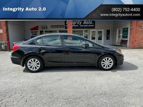 2012 Honda Civic for sale at Integrity Auto 2.0 in Saint Albans VT