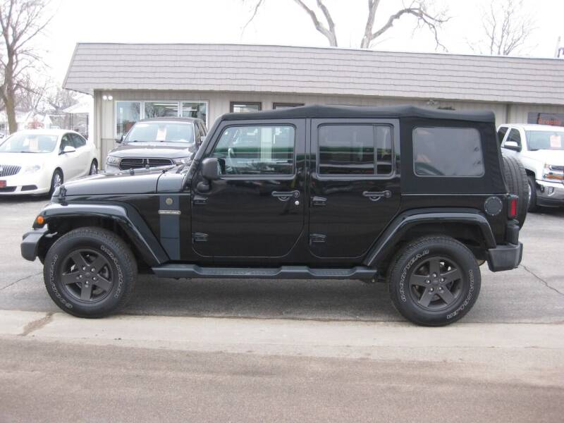 2016 Jeep Wrangler Unlimited for sale at Greens Motor Company in Forreston IL