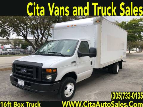2013 FORD ECONOLINE E-350 16 FT BOX TRUCK LOADING RAMP for sale at Cita Auto Sales in Medley FL