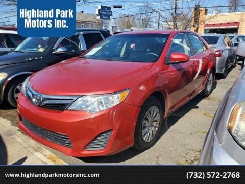 2014 Toyota Camry for sale at Highland Park Motors Inc. in Highland Park NJ