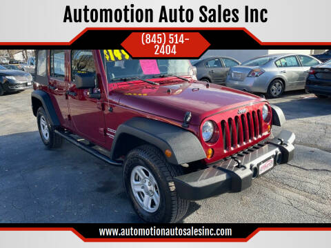 2012 Jeep Wrangler Unlimited for sale at Automotion Auto Sales Inc in Kingston NY