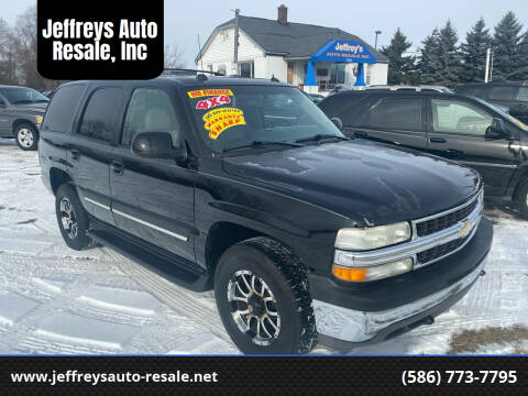 2004 Chevrolet Tahoe for sale at Jeffreys Auto Resale, Inc in Clinton Township MI