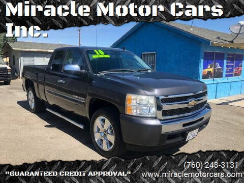 2010 Chevrolet Silverado 1500 for sale at Miracle Motor Cars Inc. in Victorville CA