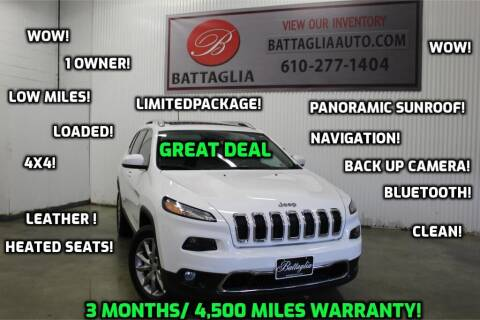 2018 Jeep Cherokee for sale at Battaglia Auto Sales in Plymouth Meeting PA