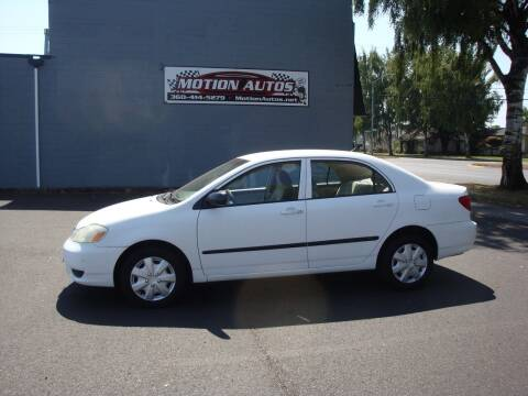 2003 Toyota Corolla for sale at Motion Autos in Longview WA