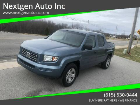 2006 Honda Ridgeline for sale at Nextgen Auto Inc in Smithville TN