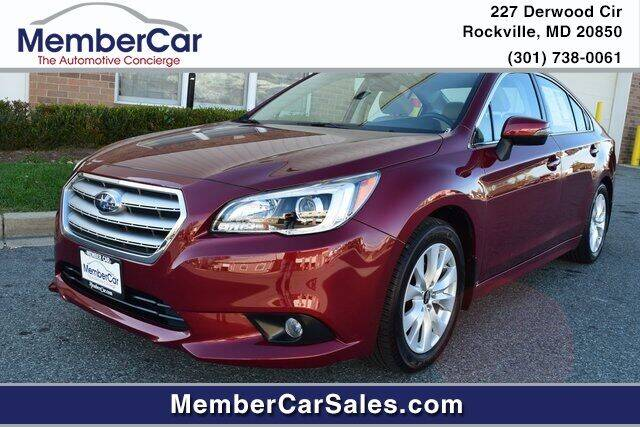 2017 Subaru Legacy for sale at MemberCar in Rockville MD