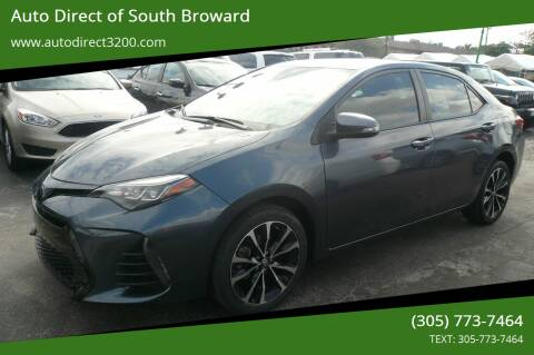 2019 Toyota Corolla for sale at Auto Direct of South Broward in Miramar FL
