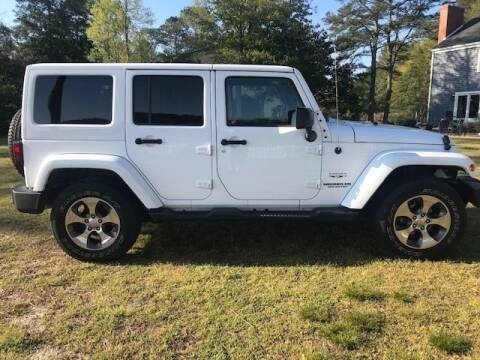 2017 Jeep Wrangler Unlimited for sale at J Wilgus Cars in Selbyville DE