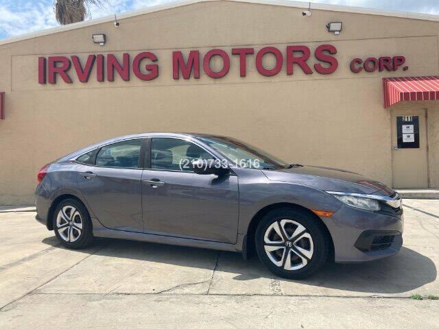 2016 Honda Civic for sale at Irving Motors Corp in San Antonio TX