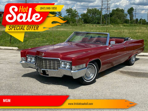 1969 Cadillac DeVille for sale at MGM CLASSIC CARS in Addison IL