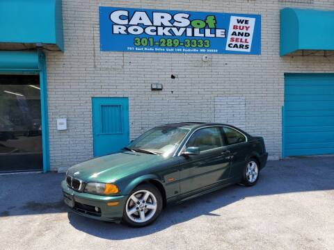 2000 BMW 3 Series for sale at Cars Of Rockville in Rockville MD