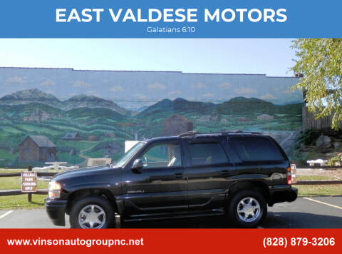 2005 GMC Yukon for sale at EAST VALDESE MOTORS in Valdese NC