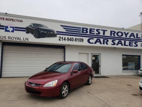 2005 Honda Accord for sale at Best Royal Car Sales in Dallas TX