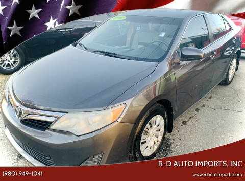 2012 Toyota Camry for sale at R-D AUTO IMPORTS, Inc in Charlotte NC
