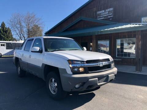 2002 Chevrolet Avalanche for sale at Coeur Auto Sales in Hayden ID