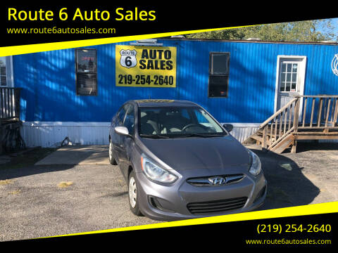 2013 Hyundai Accent for sale at Route 6 Auto Sales in Portage IN